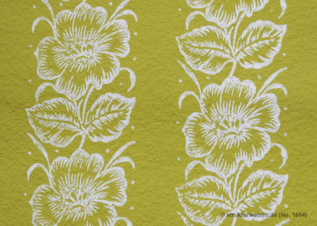 large flower on wallpaper - No. 1604