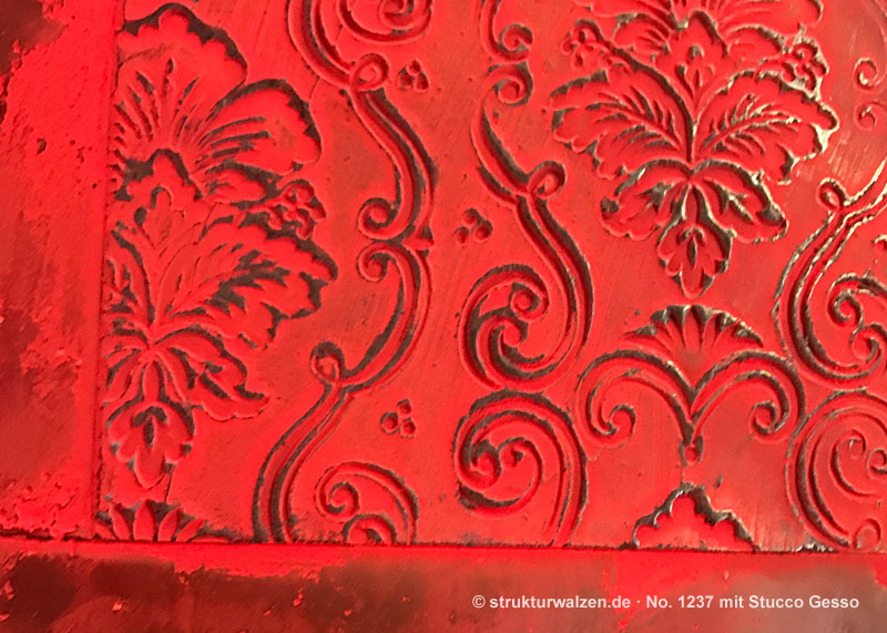 embossed baroque pattern 1237 stucco gesso