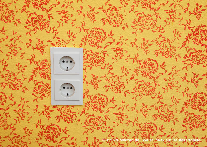 pattern roller wall with socket