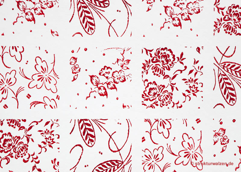 tiled pattern in red