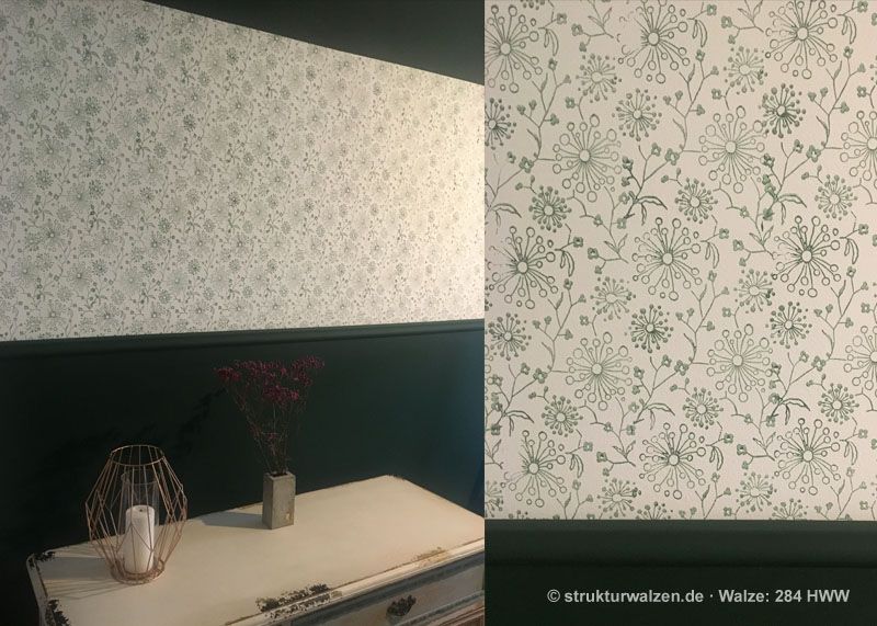 wall pattern in dark greenn